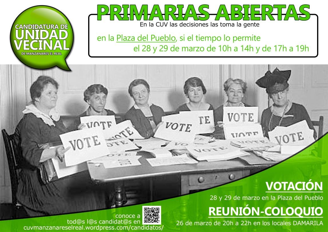 Cartel votación primarias