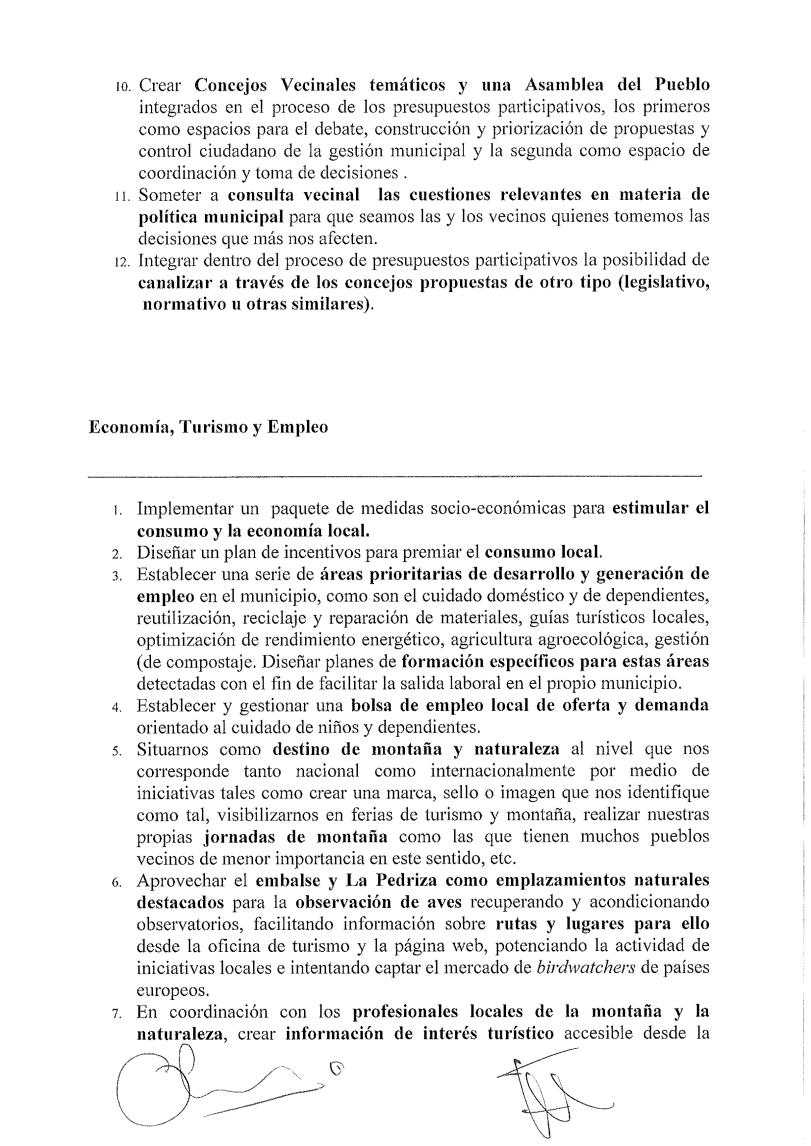 Acuerdo programático 2