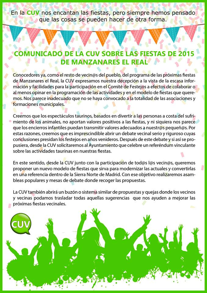 comunicado CUV_Fiestas