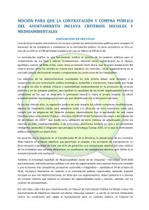 Moción contrataciones con criterios sociales